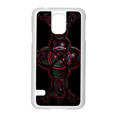 Fractal Red Cross On Black Background Samsung Galaxy S5 Case (white)