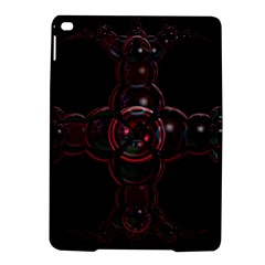 Fractal Red Cross On Black Background Ipad Air 2 Hardshell Cases