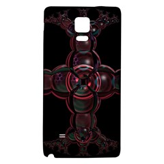 Fractal Red Cross On Black Background Galaxy Note 4 Back Case
