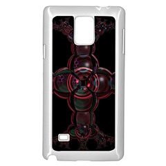 Fractal Red Cross On Black Background Samsung Galaxy Note 4 Case (White)