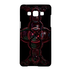 Fractal Red Cross On Black Background Samsung Galaxy A5 Hardshell Case