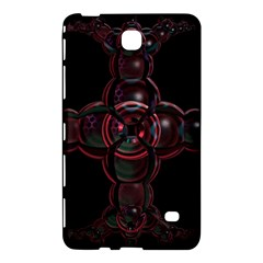 Fractal Red Cross On Black Background Samsung Galaxy Tab 4 (8 ) Hardshell Case