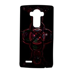 Fractal Red Cross On Black Background LG G4 Hardshell Case