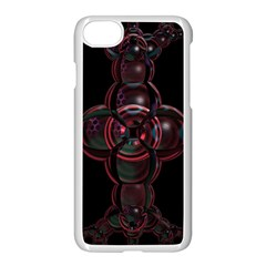 Fractal Red Cross On Black Background Apple Iphone 7 Seamless Case (white)