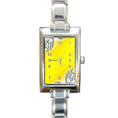 Fractal Abstract Background Rectangle Italian Charm Watch