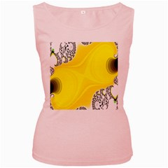 Fractal Abstract Background Women s Pink Tank Top
