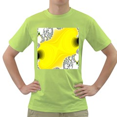 Fractal Abstract Background Green T Shirt