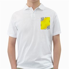 Fractal Abstract Background Golf Shirts