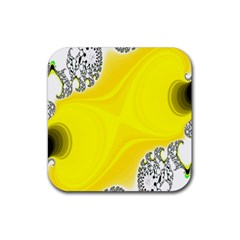 Fractal Abstract Background Rubber Coaster (square)