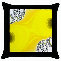 Fractal Abstract Background Throw Pillow Case (Black)