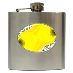 Fractal Abstract Background Hip Flask (6 Oz)