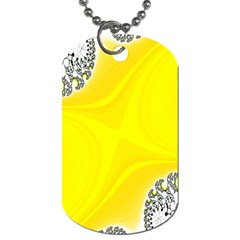 Fractal Abstract Background Dog Tag (two Sides)