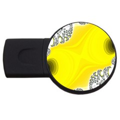 Fractal Abstract Background USB Flash Drive Round (1 GB)