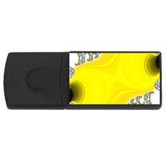 Fractal Abstract Background USB Flash Drive Rectangular (1 GB)