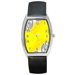 Fractal Abstract Background Barrel Style Metal Watch