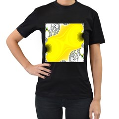 Fractal Abstract Background Women s T Shirt (black) (two Sided)
