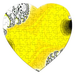 Fractal Abstract Background Jigsaw Puzzle (heart)