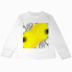 Fractal Abstract Background Kids Long Sleeve T Shirts