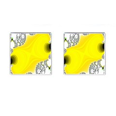 Fractal Abstract Background Cufflinks (Square)