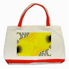 Fractal Abstract Background Classic Tote Bag (red)