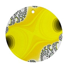 Fractal Abstract Background Round Ornament (two Sides)