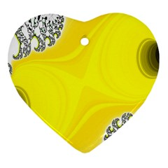 Fractal Abstract Background Heart Ornament (Two Sides)