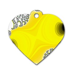 Fractal Abstract Background Dog Tag Heart (two Sides)