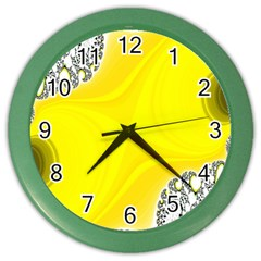 Fractal Abstract Background Color Wall Clocks