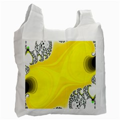 Fractal Abstract Background Recycle Bag (two Side)