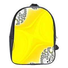 Fractal Abstract Background School Bags(Large)