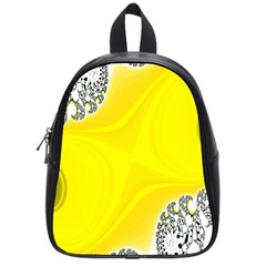 Fractal Abstract Background School Bags (small)