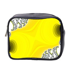 Fractal Abstract Background Mini Toiletries Bag 2 Side