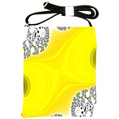 Fractal Abstract Background Shoulder Sling Bags