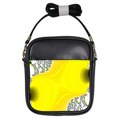 Fractal Abstract Background Girls Sling Bags