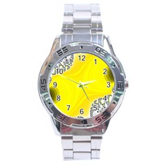 Fractal Abstract Background Stainless Steel Analogue Watch