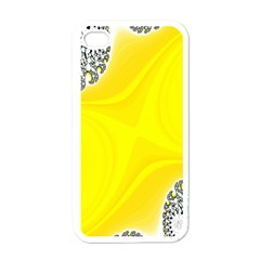Fractal Abstract Background Apple iPhone 4 Case (White)