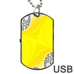Fractal Abstract Background Dog Tag Usb Flash (two Sides)