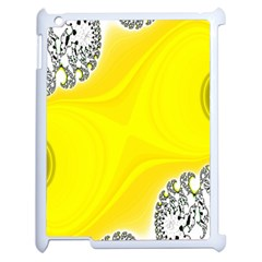 Fractal Abstract Background Apple iPad 2 Case (White)