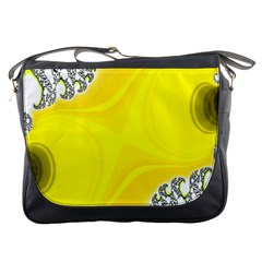 Fractal Abstract Background Messenger Bags