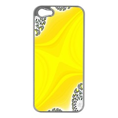 Fractal Abstract Background Apple iPhone 5 Case (Silver)
