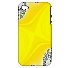 Fractal Abstract Background Apple Iphone 4/4s Hardshell Case (pc+silicone)