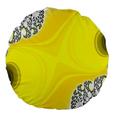 Fractal Abstract Background Large 18  Premium Round Cushions