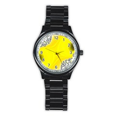 Fractal Abstract Background Stainless Steel Round Watch