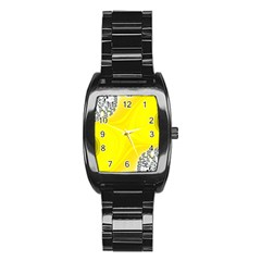 Fractal Abstract Background Stainless Steel Barrel Watch