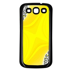 Fractal Abstract Background Samsung Galaxy S3 Back Case (Black)
