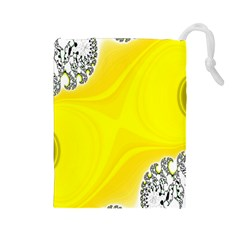 Fractal Abstract Background Drawstring Pouches (large)