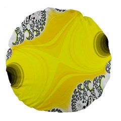 Fractal Abstract Background Large 18  Premium Flano Round Cushions