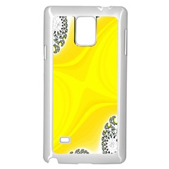 Fractal Abstract Background Samsung Galaxy Note 4 Case (white)