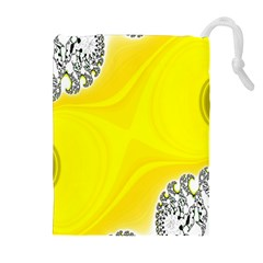 Fractal Abstract Background Drawstring Pouches (extra Large)