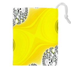 Fractal Abstract Background Drawstring Pouches (xxl)